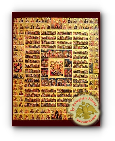 Annual Calendar - Neoclassical Wooden Holy Icon