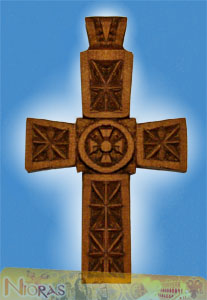 Engraved Wooden Cross 1