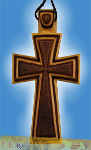 Engraved Wooden Cross 12