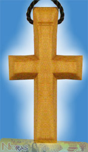 Engraved Wooden Cross 15