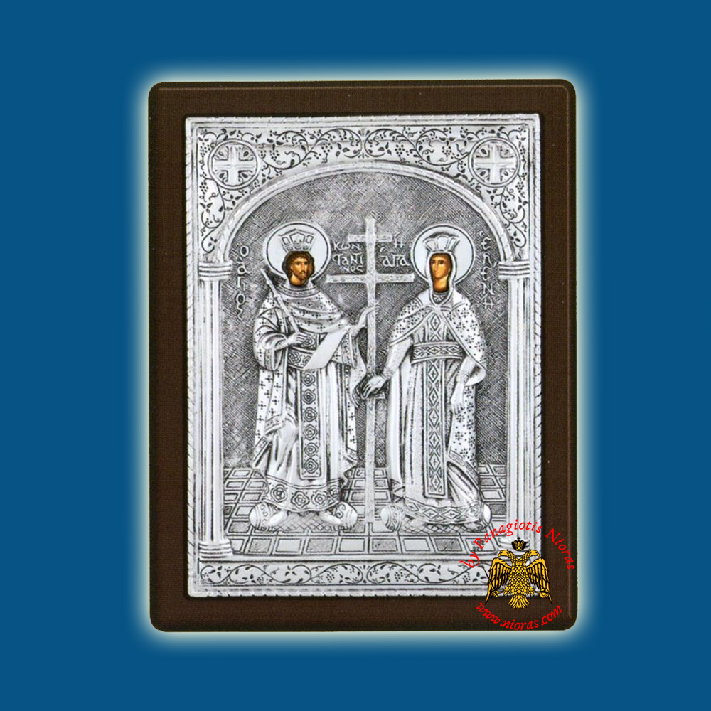 Saints Constantine & Helen Silver Holy Icon