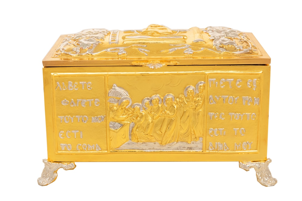 Reliquary or Relics Box - Tabernacle B' Gold Silver Plated