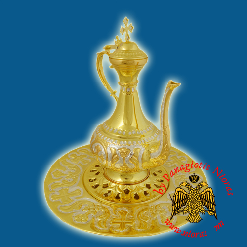 Hernivoxeston Orthodox Church Pitcher A' Gold Plated and Silver Plated