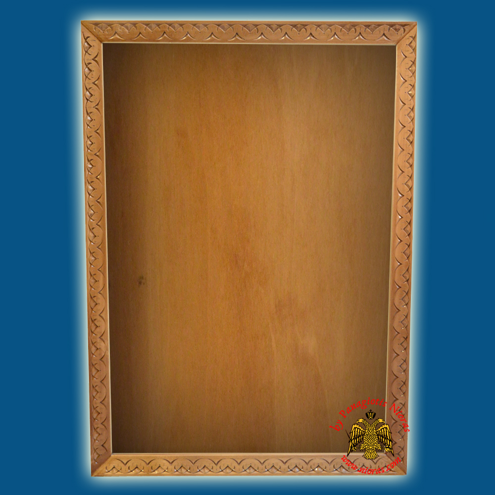 Orthodox Wood Carved Frame with Glass
