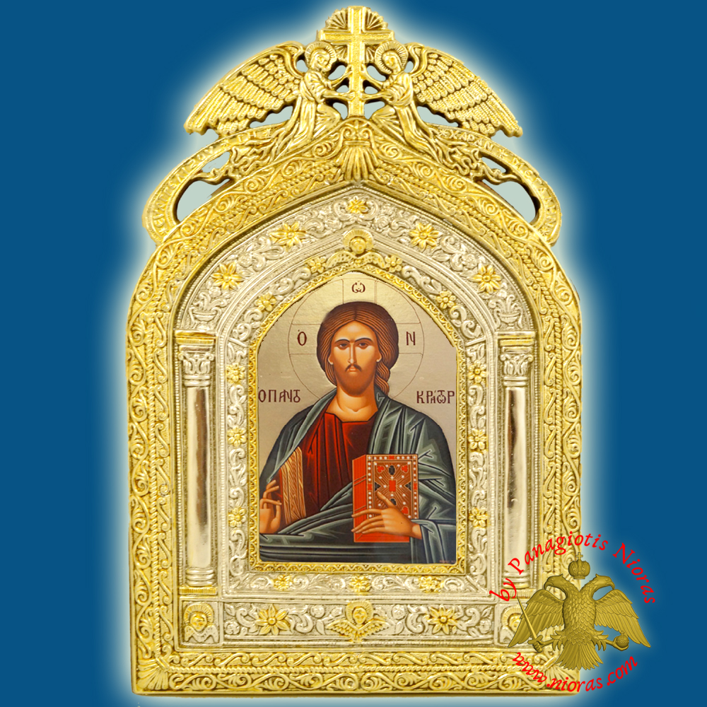 Angels Frame Holy Icon of Jesus Christ Paper Icon