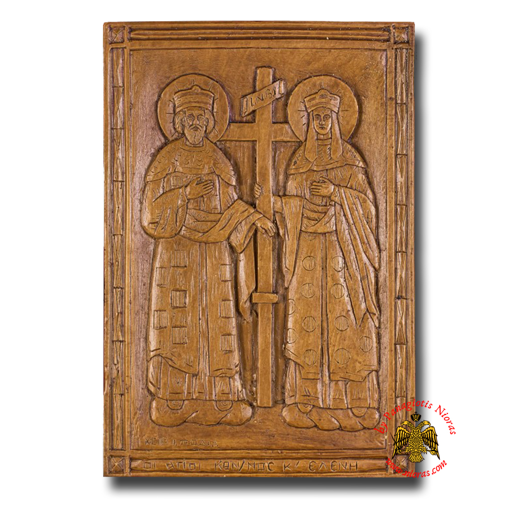 Icon From BeeWax Saint Constantine and Saint Helen