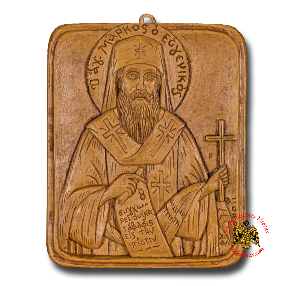 Icon From BeeWax Saint Mark of Ephesus The Courteous
