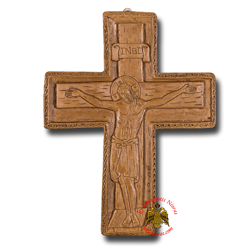 Icon From BeeWax Byzantine Cross The Crucifixtion