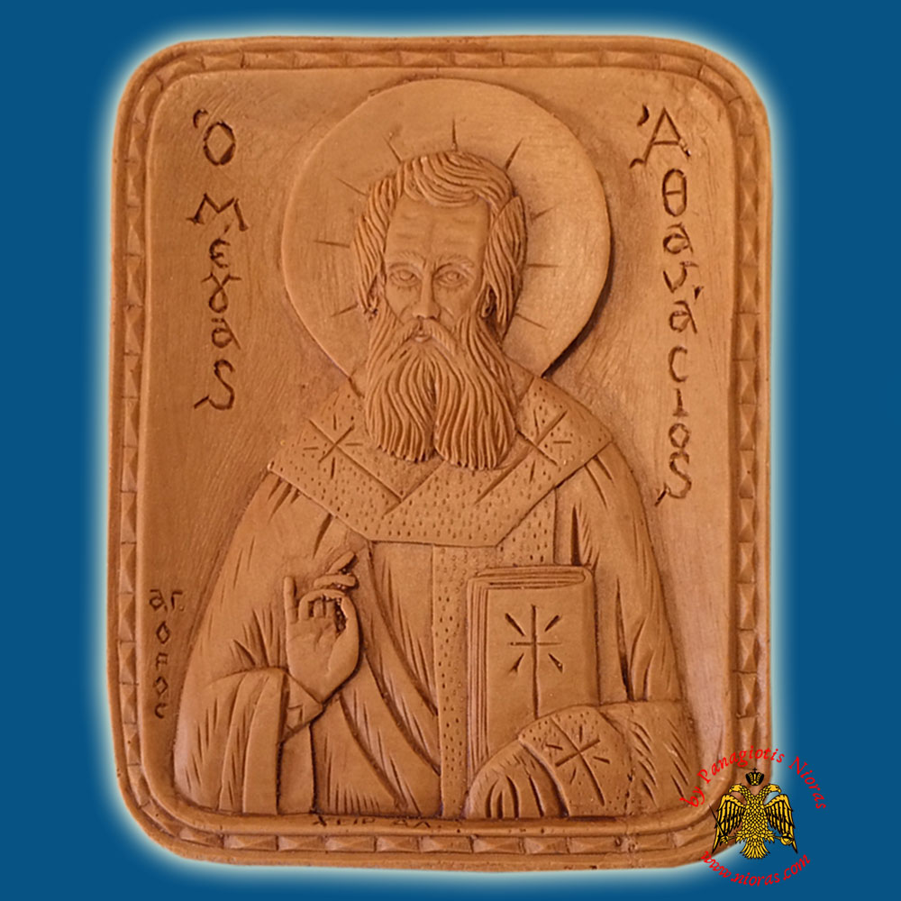 Icon from BeeWax Saint Athanasios