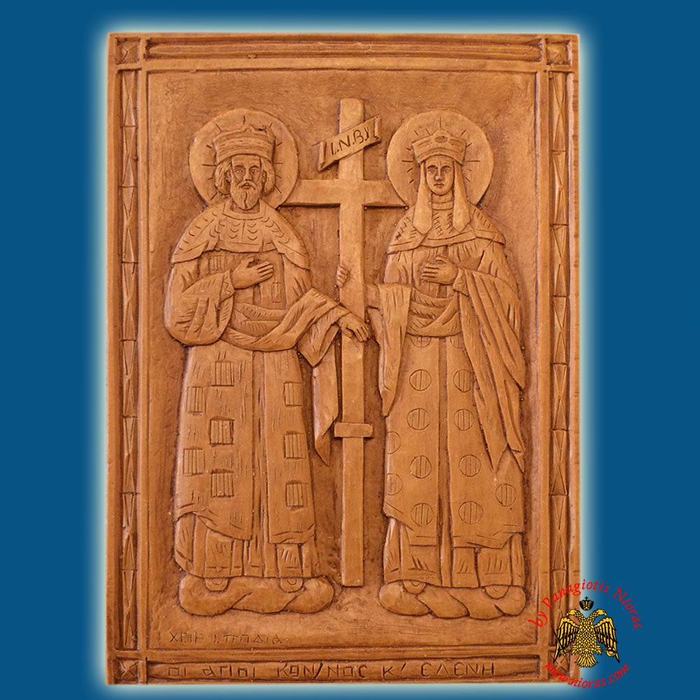Icon from BeeWax Saint Konstantinos & Saint Helen