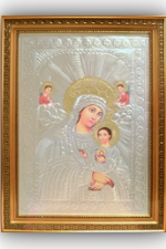 Framed Glass Holy Icons