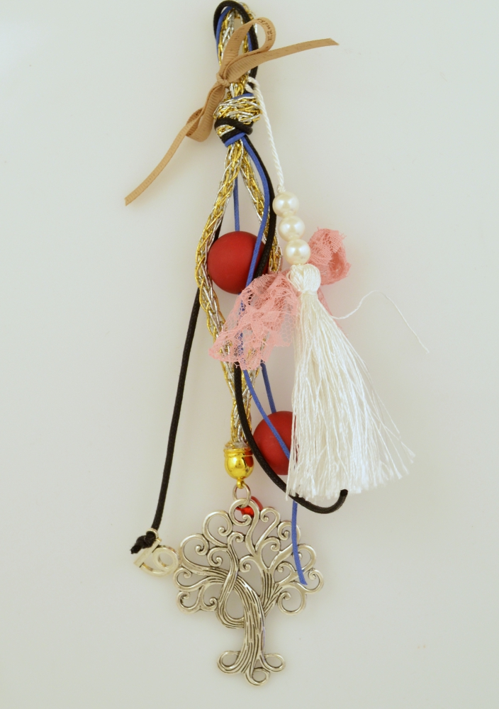 Lucky Charm 2019 Metal Tree Nickel Plated with Wishes Ribbon