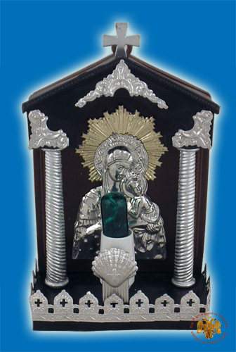 Traditional Orthodox Icon with Electric Lamp D Plastic
