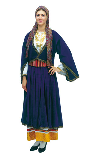 Aegean Island Female Traditional Dance Costume