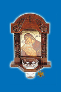 Icons with Glass Oil Cup