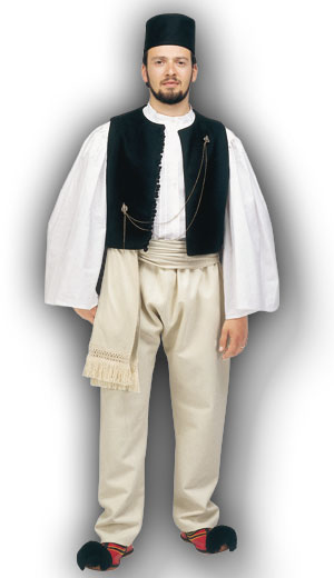 Epirus Male Traditional Dance Costume