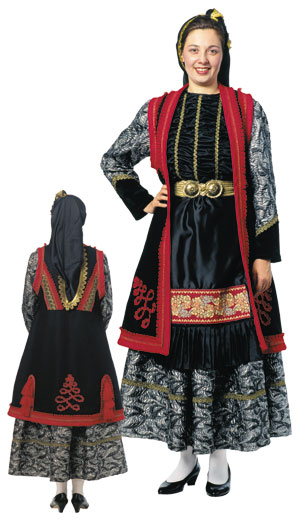 Epirus Zitsa Female Tradional Dance Costume