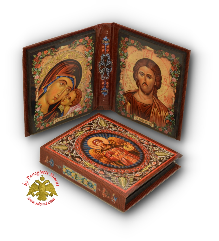 Orthodox Icon Diptych Theotokos Christ 10x18cm