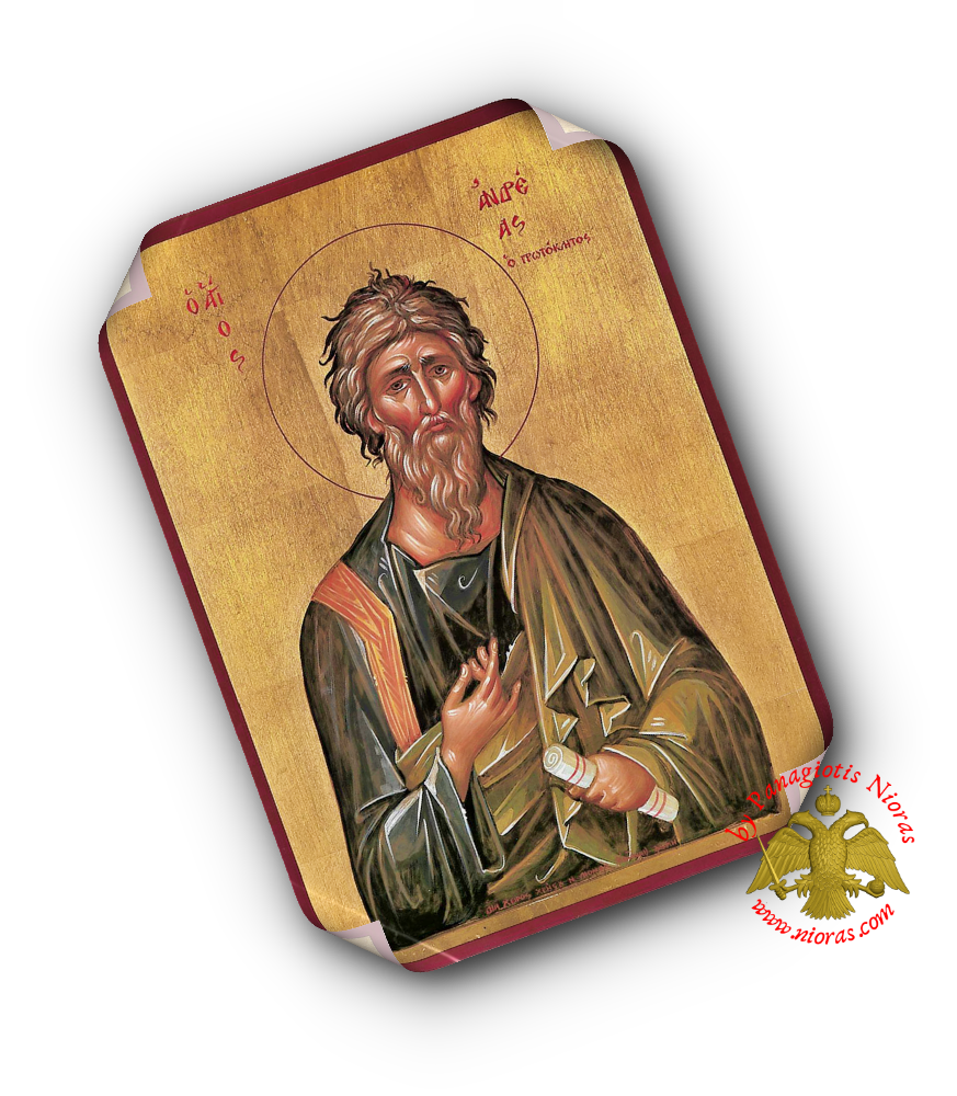 Laminated Orthodox Icons Saint Andrew the Apostle Set of 10