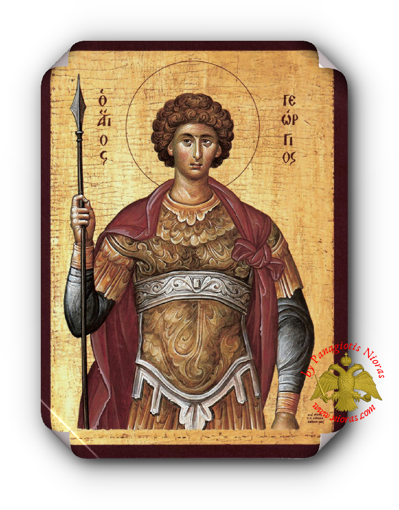 Laminated Orthodox Icons Saint George