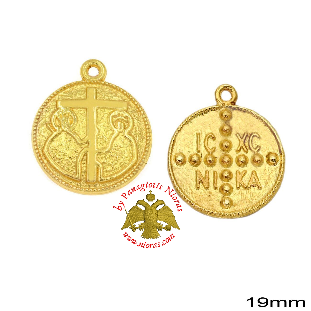 Casting Constantinato Coin Pendant GOLD PLATED - 40 pcs
