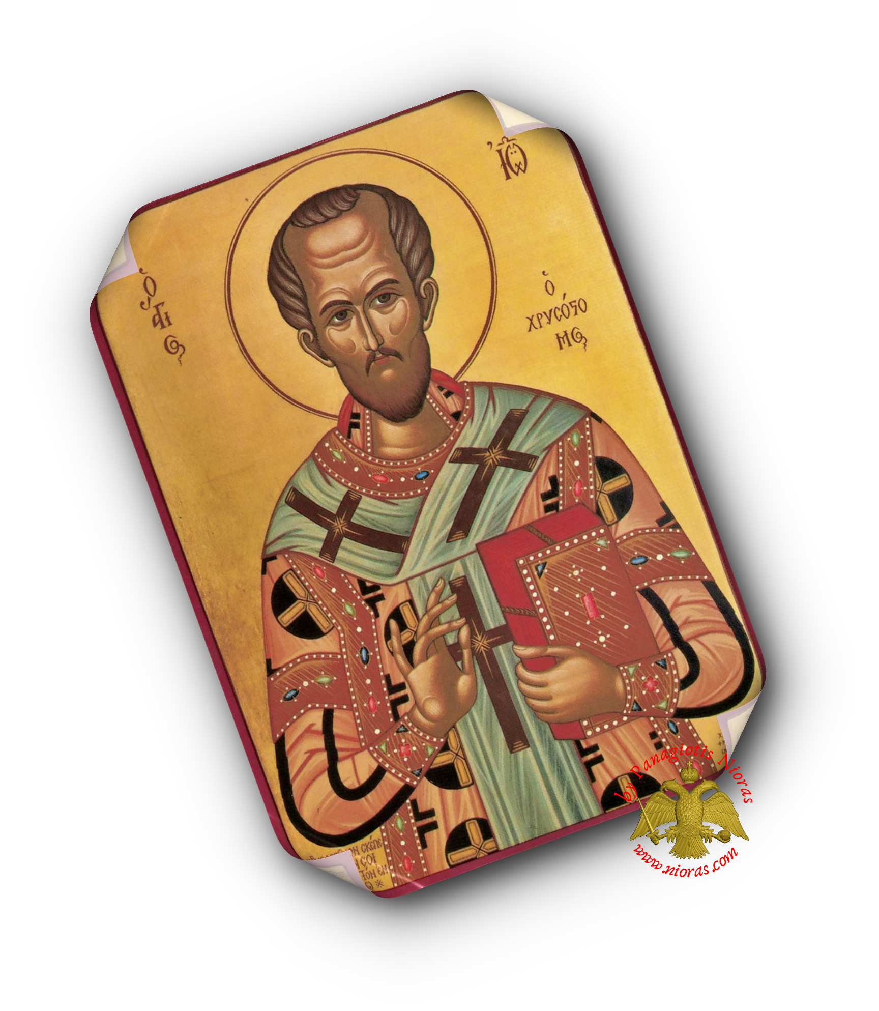 Laminated Orthodox Icons Saint John the Chrysostom Set of 10