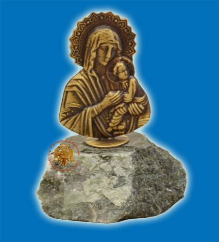 Small Standing Panagia Icon A On Marble