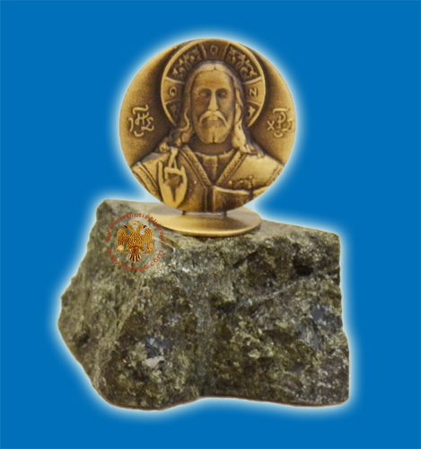 Small Standing Christos Icon On Marble