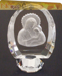 Crystal Icon Oval 6x9cm
