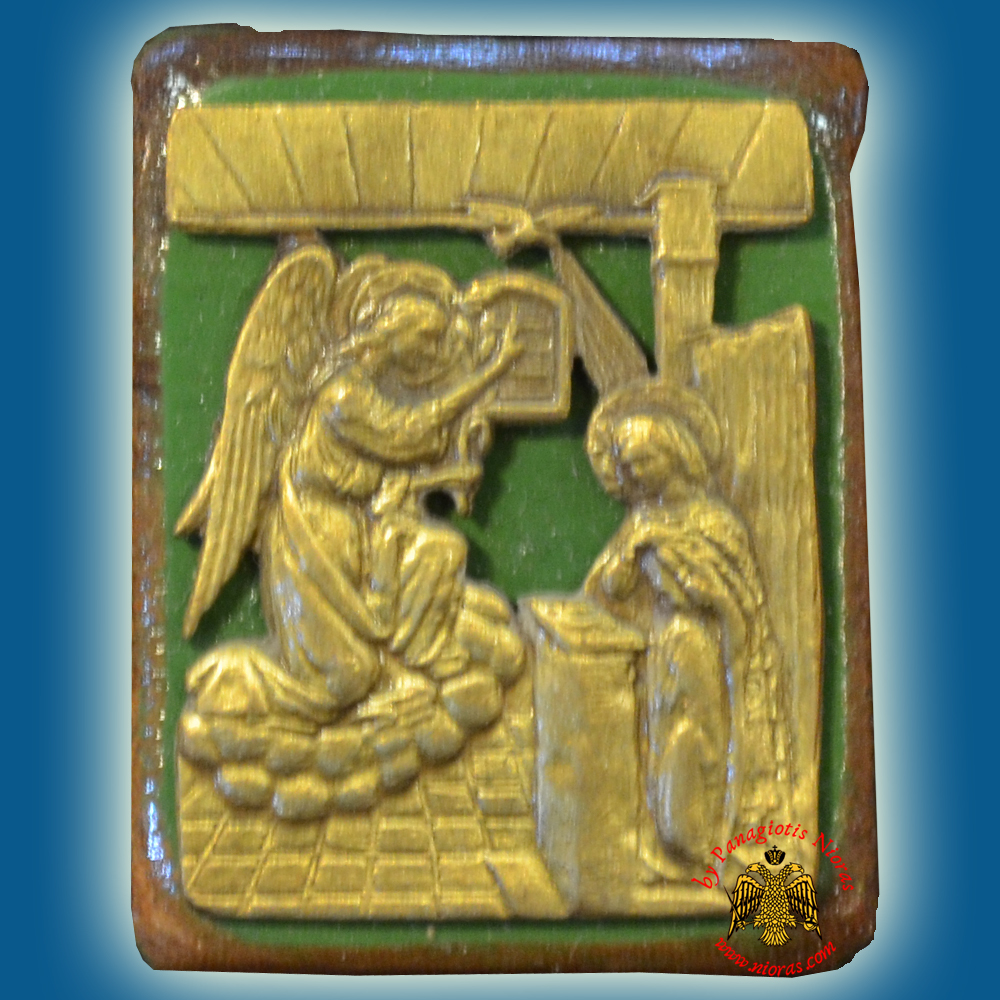 Wooden Orthodox Icon Annunciation Magnetic or Hanging