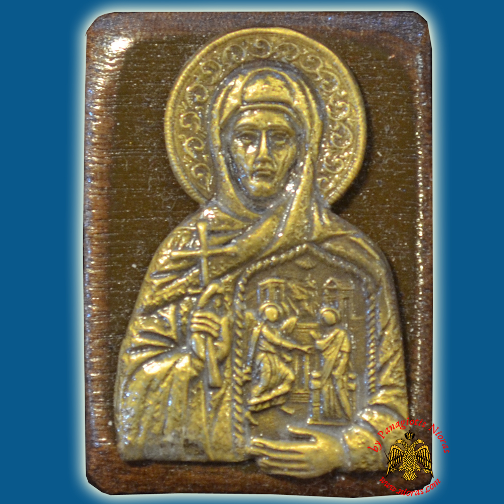 Wooden Orthodox Icon Saint Pelagia of Tinos Mangetic or Hanging