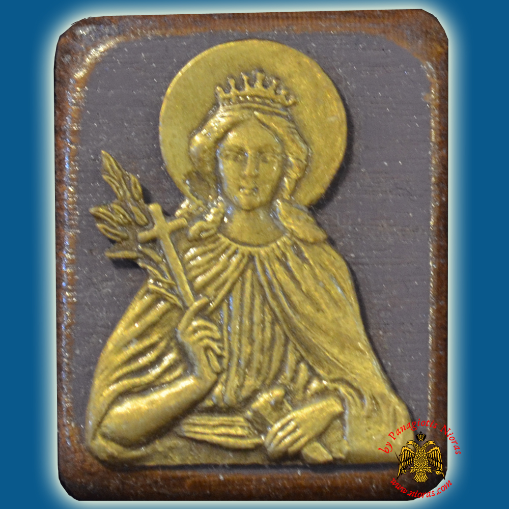 Wooden Orthodox Icon Saint Catherine Mangetic or Hanging