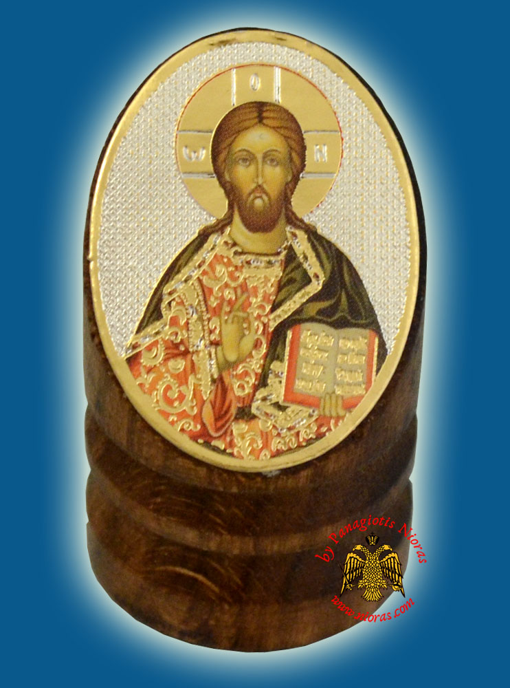 Wooden Orthodox Icon of Christ 3x4cm