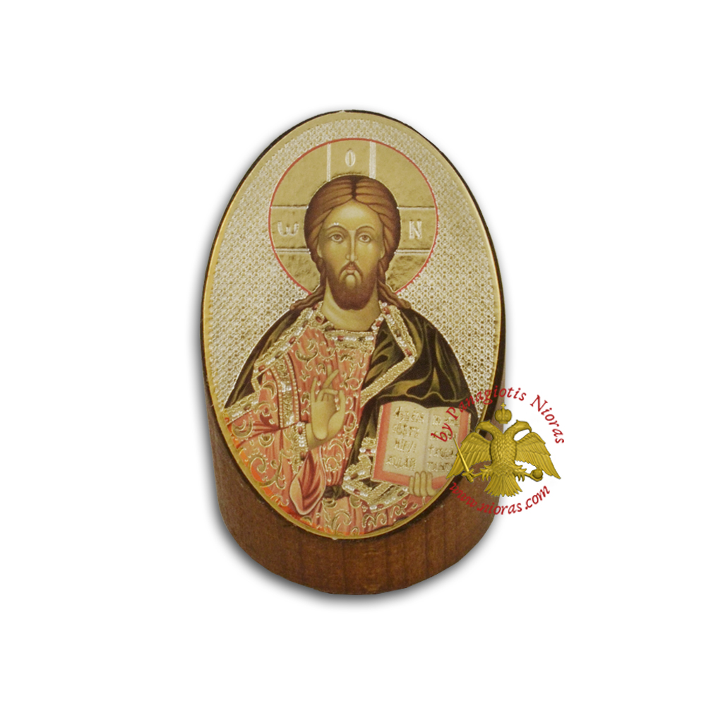 Wooden Orthodox Icon of Christ 7x5cm