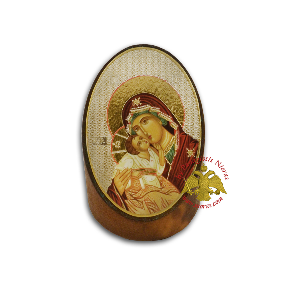 Wooden Orthodox Icon of Theotokos 7x5cm