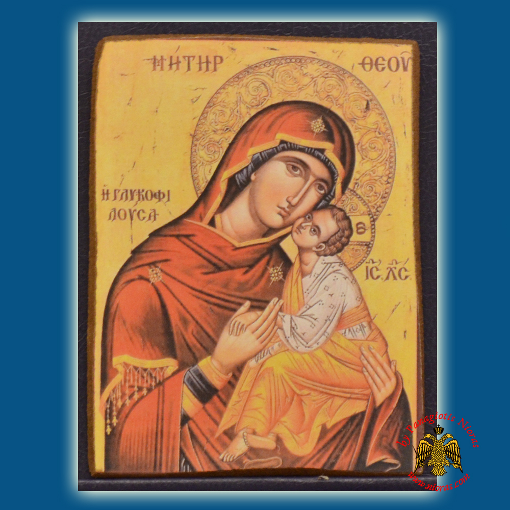 Orthodox Icon Magnets Holy Theotokos Wooden Carved