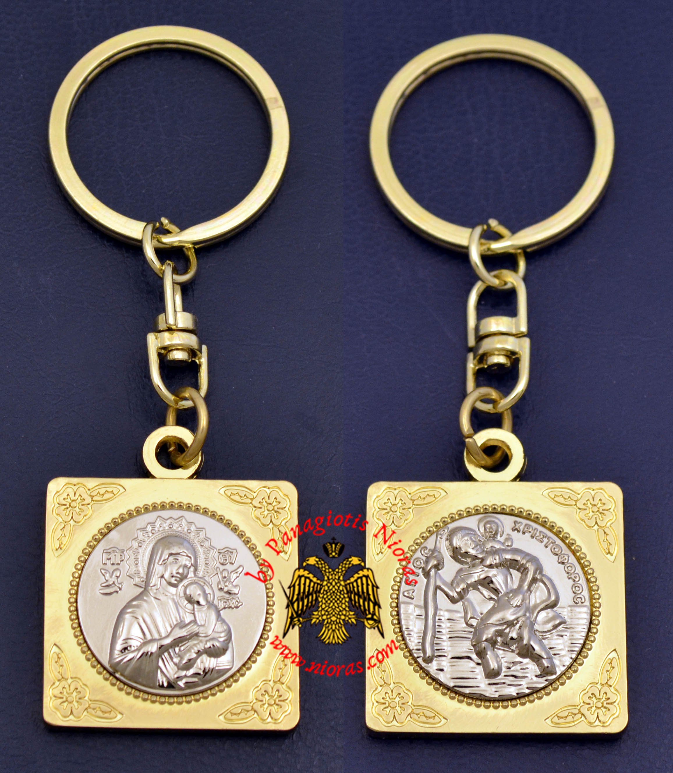 Orthodox KeyHolder Icon Gold Plated