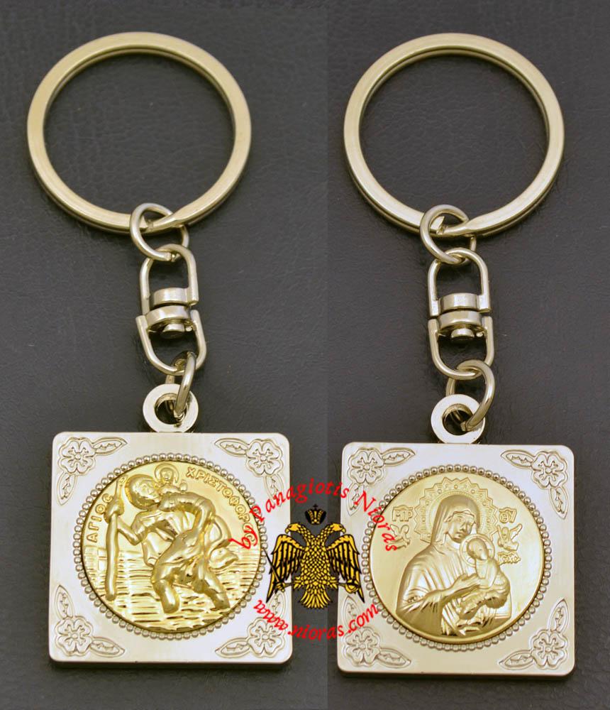Orthodox KeyHolder Icon Silver Plated