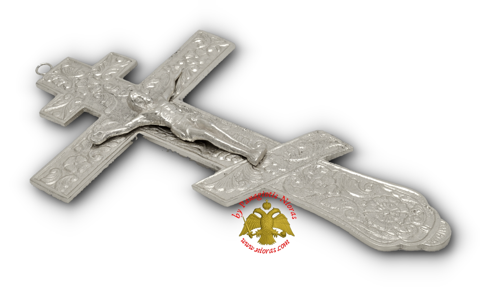 Russian Blessing Metal Cross Nickel Finishing 12x22cm