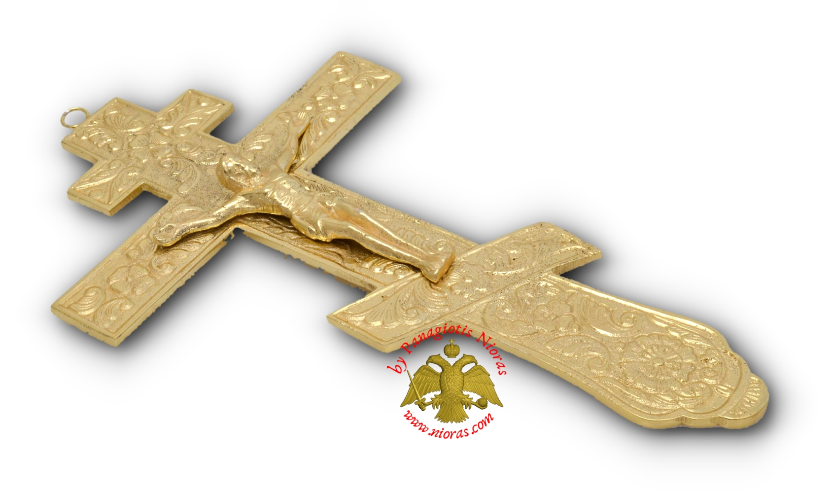 Russian Blessing Metal Cross Gold Plated Finishing 12x22cm