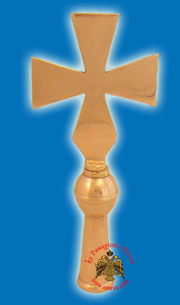 Cross Church Classic for Flag Pole - solid brass