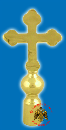Cross Byzantine Church Classis for Flag Pole - Gold Plated