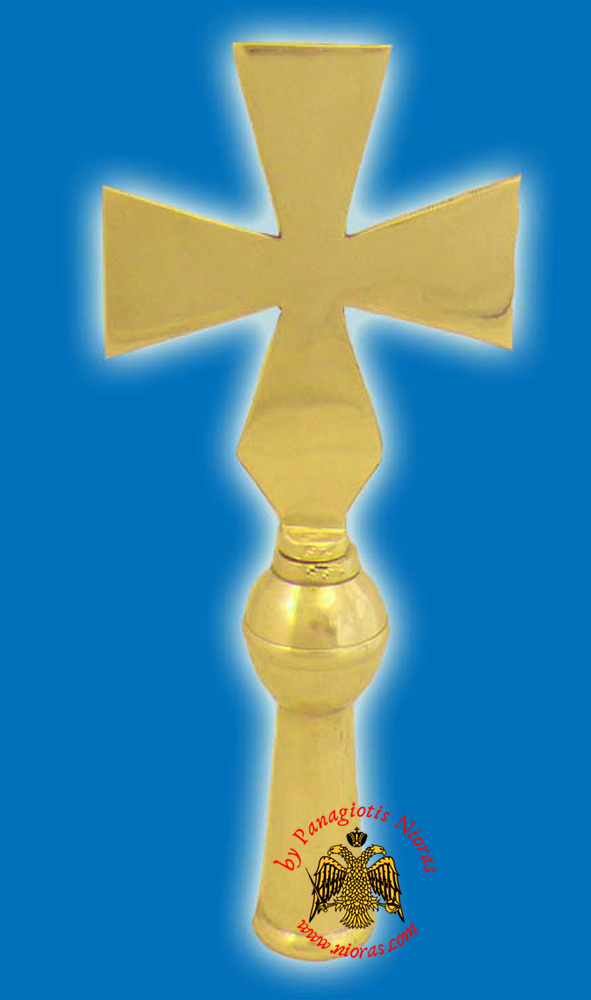 Cross Church Classic for Flag Pole - Gold Plated