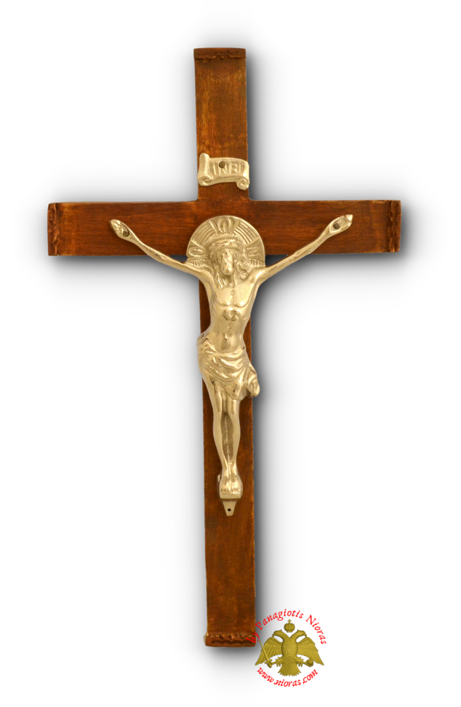 Orthodox Wooden Wall Hanging Cross 20x35cm