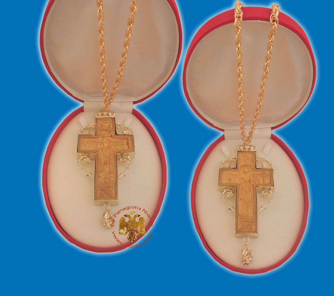 Wooden Gold Plated Cross for Priest