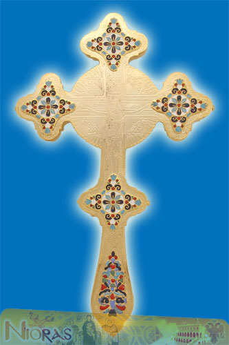 Blessing Cross Double Sided with Enamel Details