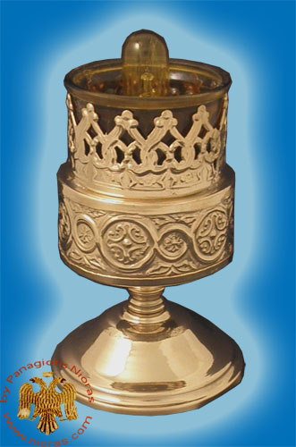 Metal Design A Electric Standing Oil Candle Brass