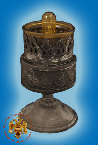 Metal Design A Electric Standing Oil Candle Antique