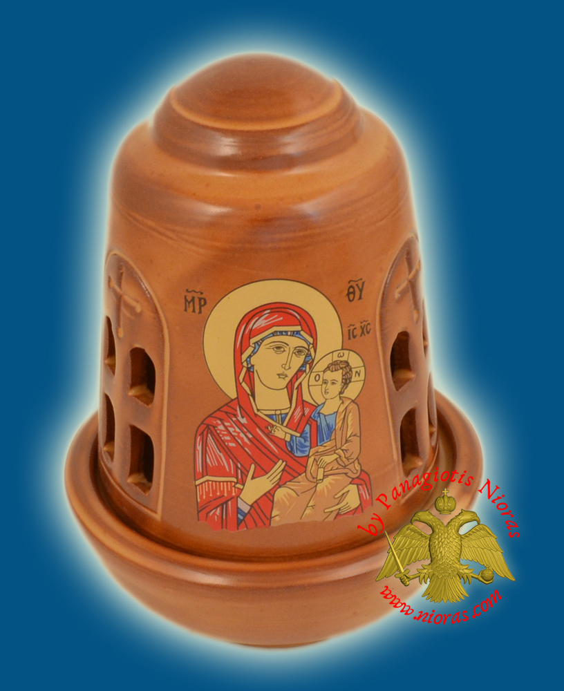 Ceramic Oil Candle Orthodox Dome Brown