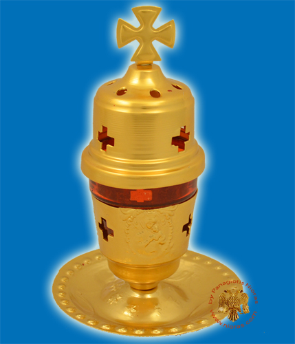 Oil Candle Base Aluminum Gold A